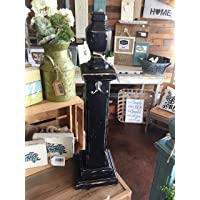 Wreath Stand, Sign Holder, Farmhouse Style, 28″ Tall Tabletop, Mantel, Fireplace Stand, Porch Stand, Wood, Hand Painted, Distressed Black