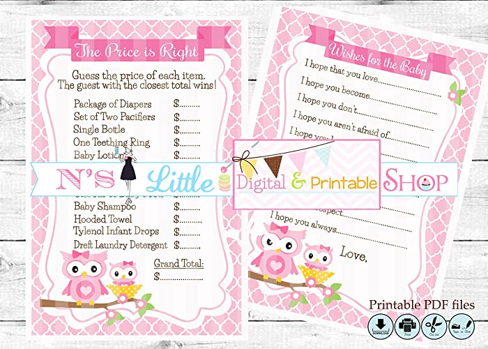 graphic regarding Printable Pdf Files named : Owl Child Shower The charge is directly video game and