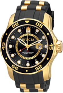 034b10a3936 Invicta Men s 6991 Pro Diver Collection GMT 18k Gold-Plated Stainless Steel  Watch with Black