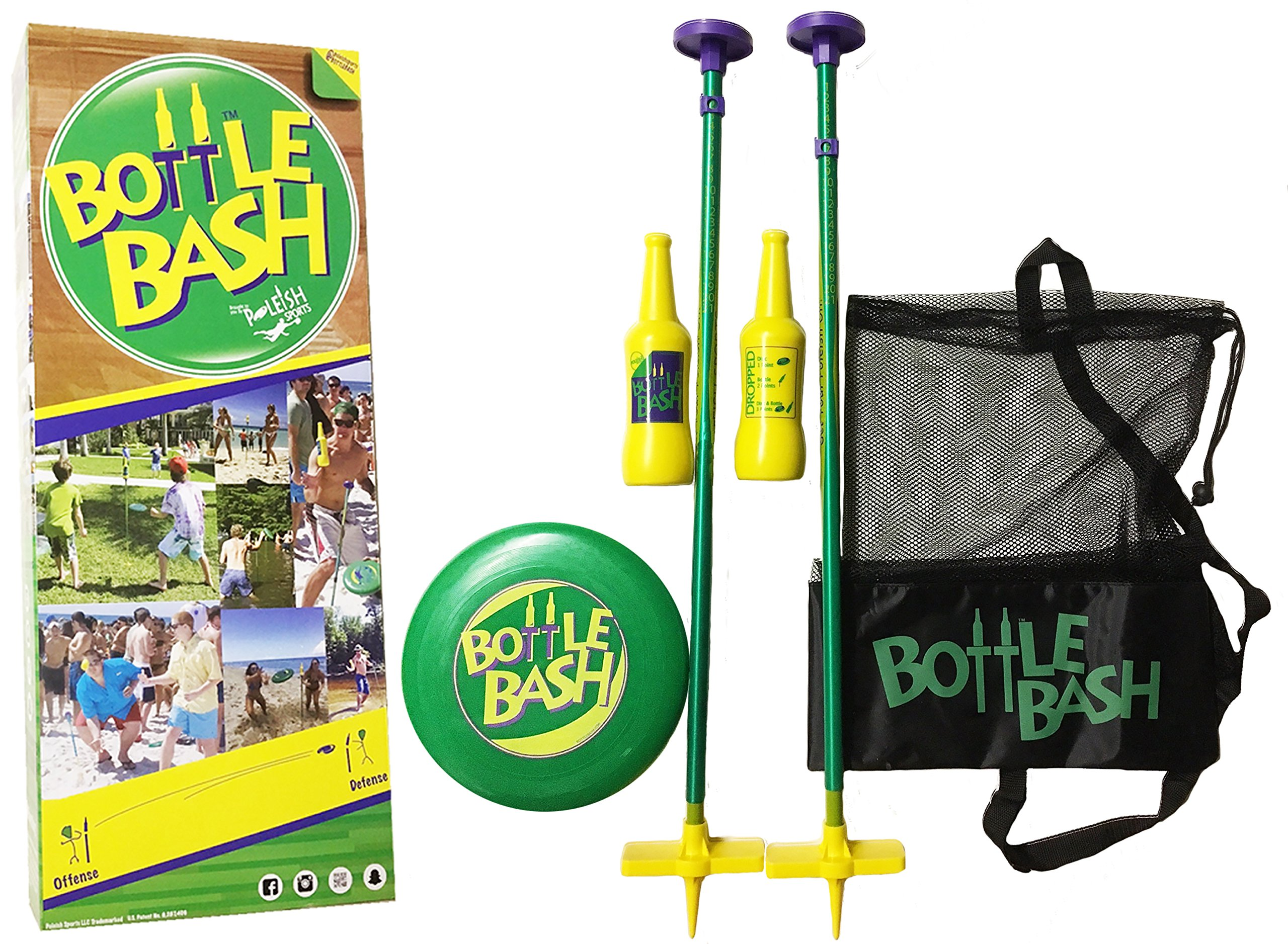 Bottle Bash Standard Game Set with Soft Surface Spike by Poleish Sports