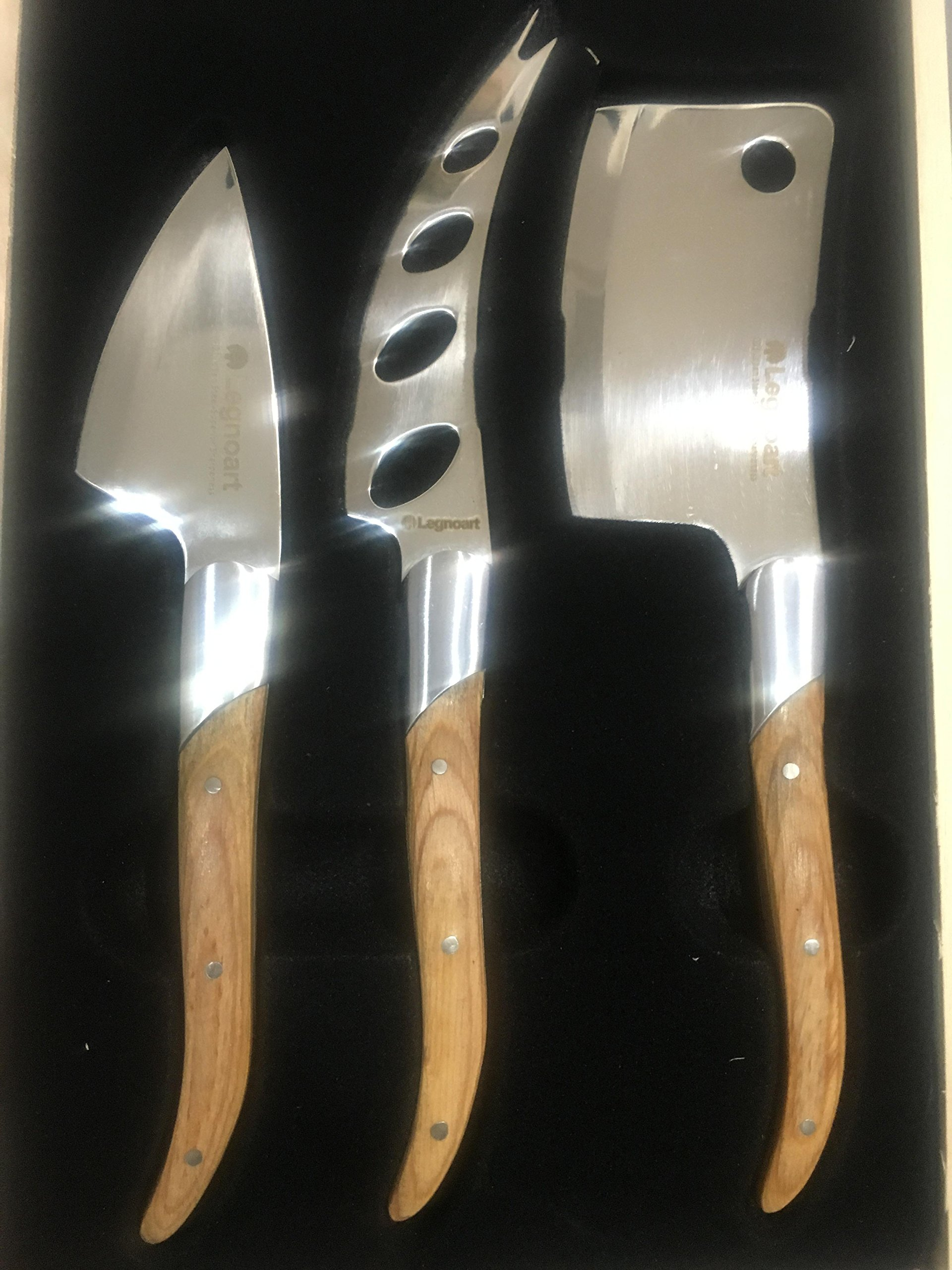 Legnoart LATTE VIVO Cheese Enthusiast Set, Stainless Steel with Wood Handles, Designed by Enrico Albertini