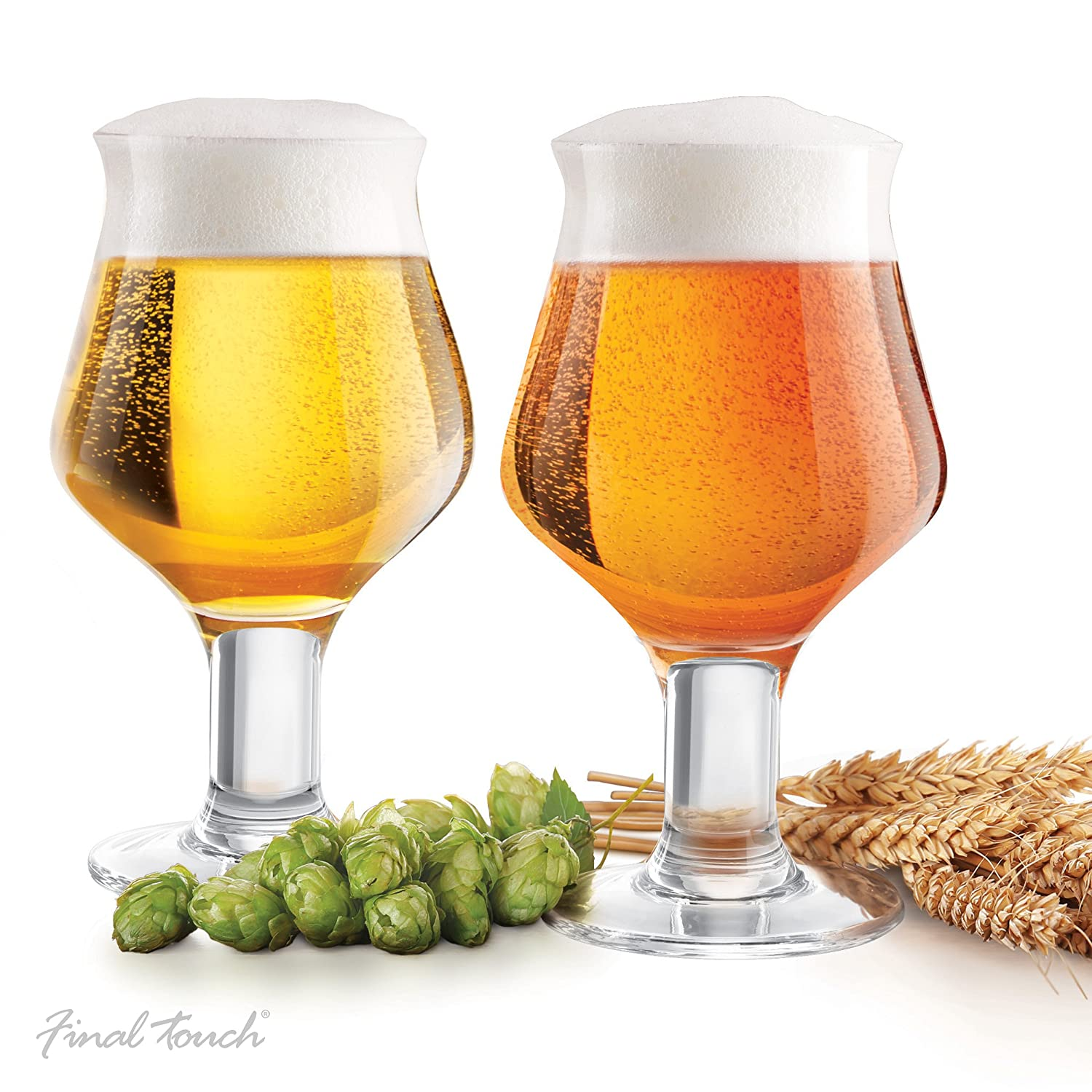 Final Touch Craft Beer Glasses, Set of 2