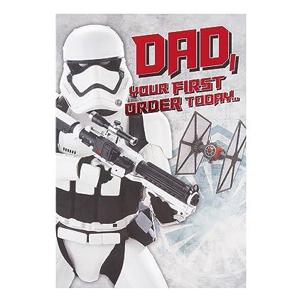 Hallmark - Tarjeta de Star Wars Dad Tarjeta de cumpleaños ...