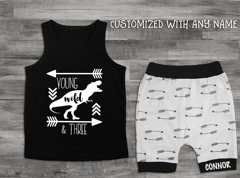 Dinosaur Young Wild and Three Birthday Boy Shirt 3rd bday Shirt Third Birthday Shirt,3rd Birthday Boy 3rd Birthday Shirt Dinosaur Shirt
