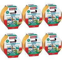 6 Stück tesa doppelseitiges Verlegeband/Extra stark klebend - für alle Teppiche und PVC Beläge/Für Fußbodenheizung und feuchte Räume geeignet / 50mm x 10m