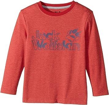 5e771a97f3 Jack Wolfskin Boys Long Sleeve Organic Cotton Outdoor Brand T-Shirt ...