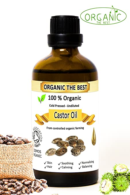 Aceite de ricino orgánico prensado en frío, sin diluir, certificado, calidad premium,