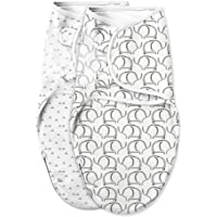SwaddleMe Original Swaddle Luxe Edition with Easy Change Zipper (Small (0-3 Months), Ellie)