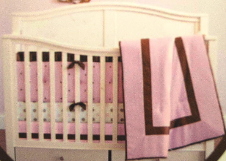 Luxe Crib Bumper - Soft Pink by KidsLine B0044V9SJU