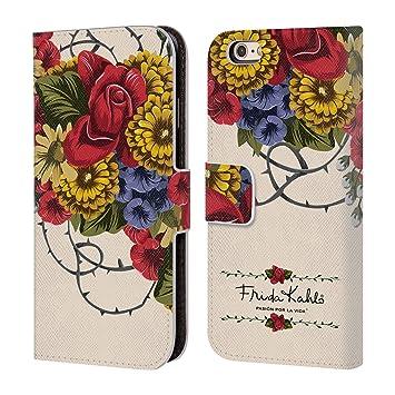 Oficial Frida Kahlo lumig Rojo Cartera Funda Carcasa de Piel para Apple iPhone Teléfono Móvil: Amazon.es: Electrónica