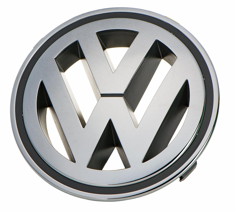 Volkswagen Front Grille Emblem Chrome Genuine Oem Passat Vw Jetta Bumper Diagram Moreover On 84 Rabbit End Tiguan Gti Automotive