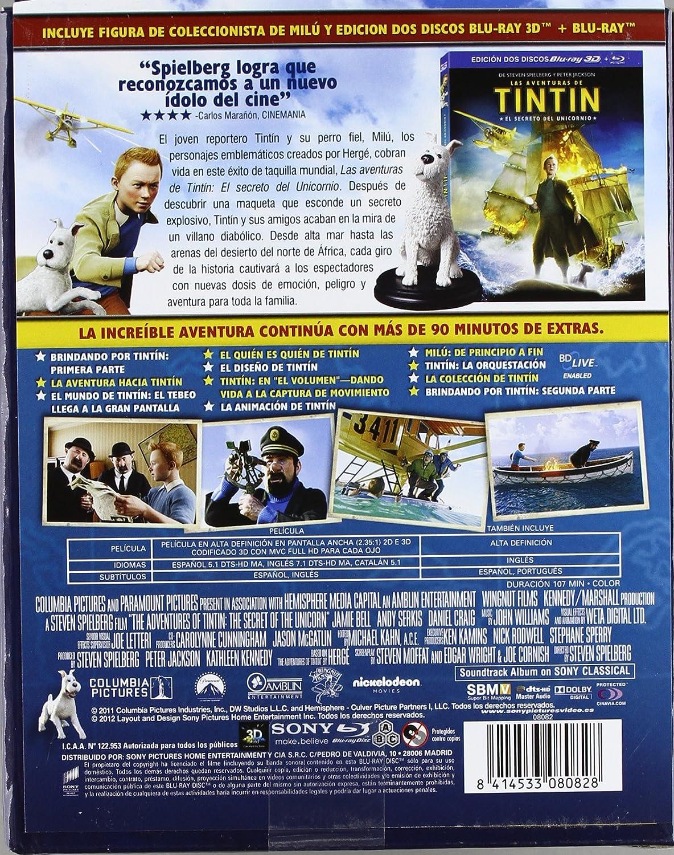 Amazon.com: Tintin: El Secreto Del Unicornio - Boxset Figura Milu: Movies & TV