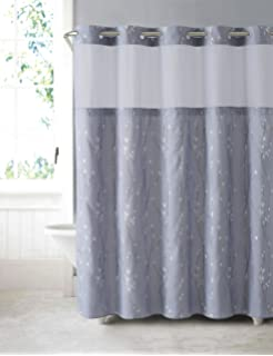 grey shower curtain liner. Hookless RBH40MY081 Cherry Bloom Shower Curtain with Peva Liner  Purple Grey Amazon com Mystery EZ On RBH40MY225 Sheer Fabric