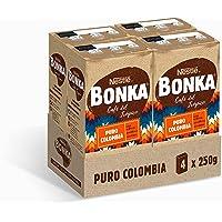 Bonka Café Tostado Molido Puro Colombia, 250 g - 4 Paquetes
