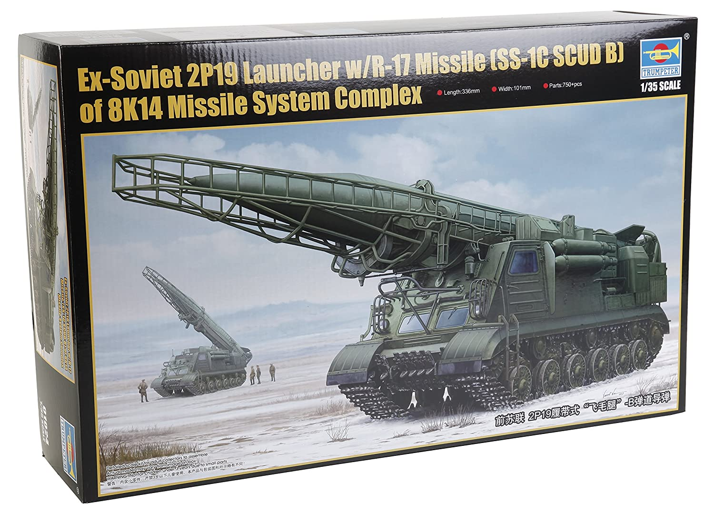 Promoción por tiempo limitado Trumpeter 01024 – Modelo Kit – Soviética 2P19 Lanzador de misiles con 17