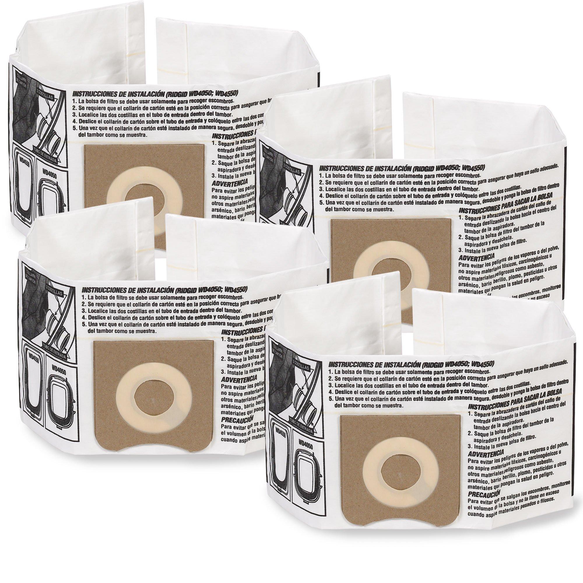 WORKSHOP Wet Dry Vacuum Bags WS32045F2 Fine Dust Collection Shop Vacuum Bags (2-Pack / 4 Shop Vacuum Bags), Bag Filter For WORKSHOP 3-Gallon To 4- 1/2 Gallon Shop Vacuum Cleaners by WORKSHOP Wet/Dry Vacs (Image #1)