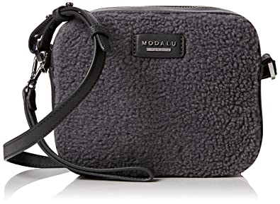 159ceddae81d Modalu Womens Freya Cross-Body Bag Grey Shearling: Amazon.co.uk ...
