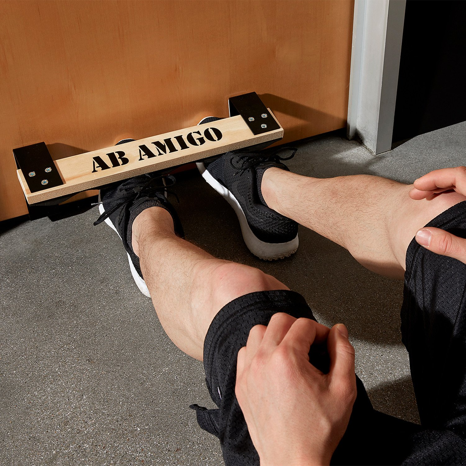 Ab Amigo Doorway Sit-Up Exercise Equipment That Auto-Corrects Your Form