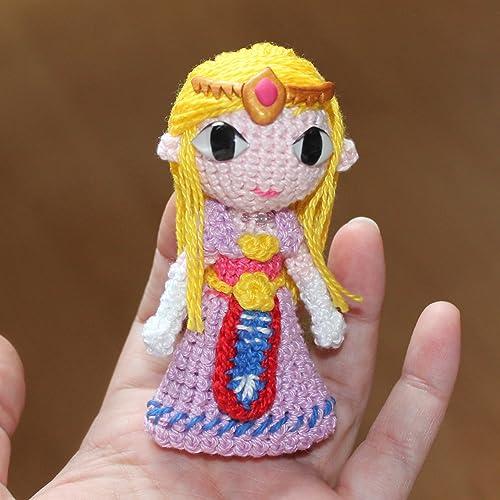 Princesa Zelda, Amigurumi de Ganchillo Hecho a Mano, Muñeco de Peluche, Regalo,