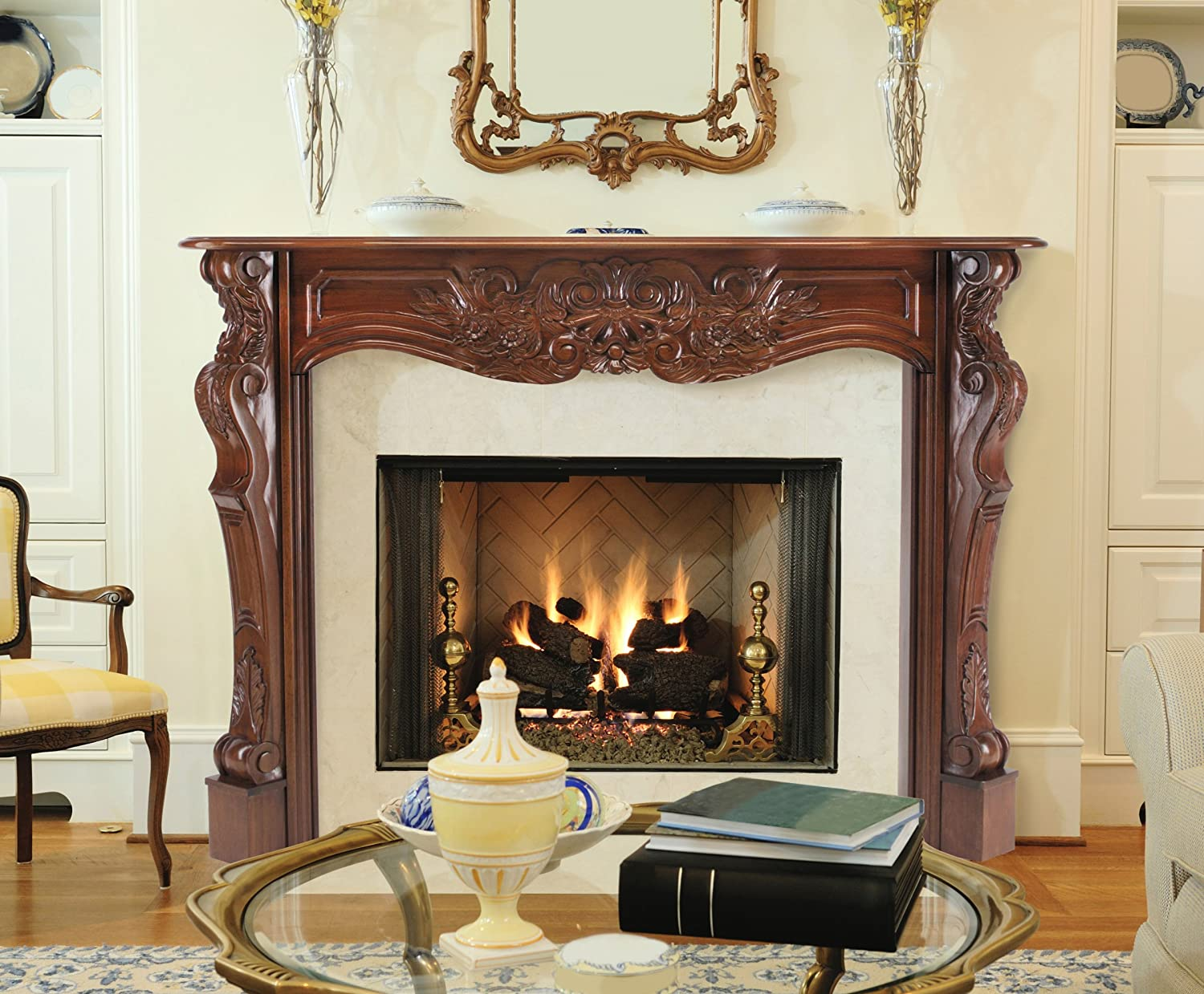amazon com pearl mantels 134 48 deauville fireplace mantel 48
