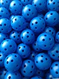 50 Pcs Blue Airflow Hollow Perforated Plastic JL Golf Practice Training Balls