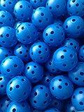 50 Pcs Blue Airflow Hollow Perforated Plastic JL Golf Practice Training Balls