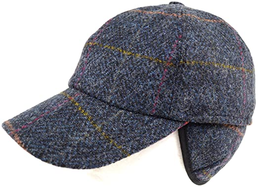 taille 7 la plus récente technologie usa pas cher vente Casquette de baseball en tweed 100 % laine avec cache-oreilles pour homme