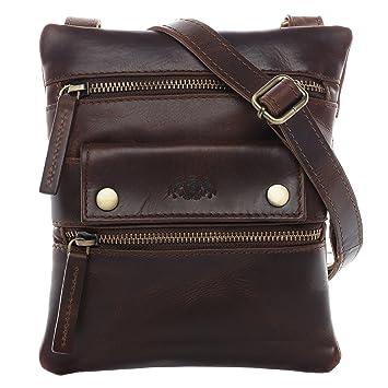 d79cfc4e37573 SID   VAIN Umhängetasche Leder Lou klein Schultertasche Unisex Handtasche  mit Schultergurt echte Ledertasche Damen Herren
