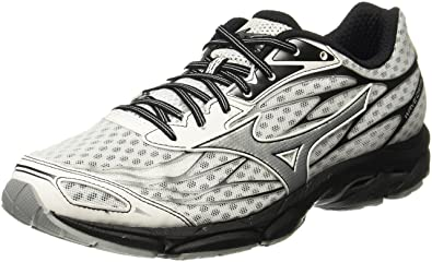 378f3cf215 Mizuno Men's R638B53 Wave Catalyst White/Silver/Black Running Shoes-11 UK/