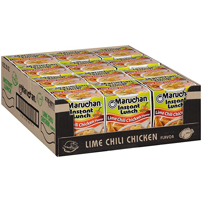 Maruchan Instant Lunch Lime Chili Chicken, 2.25 Oz, Pack of 12
