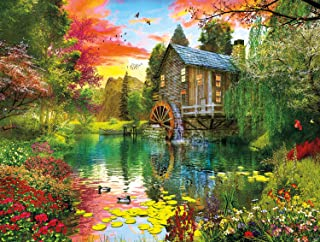 product image for Buffalo Games - Reflections - Sunset at The Mill - 750 Piece Jigsaw Puzzle
