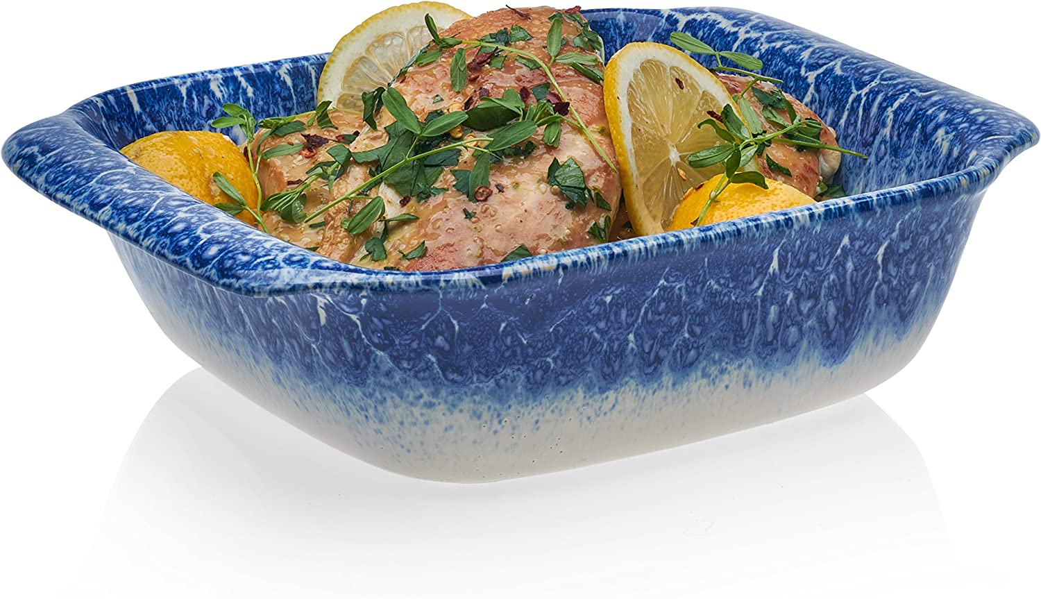 Libbey Artisan Square Stoneware Bake Dish, 8-inch by 8-inch