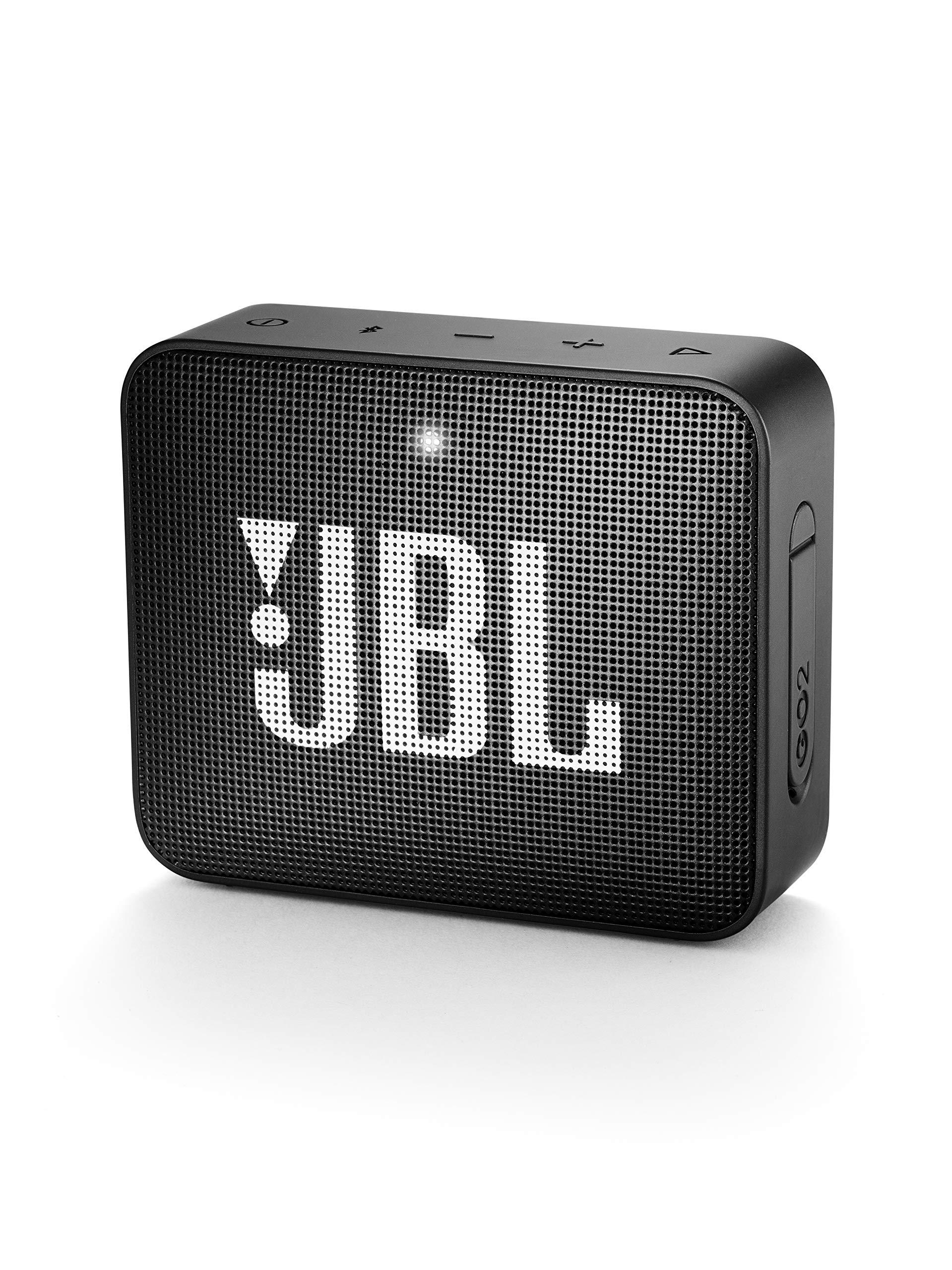 JBL GO 2 Portable Waterproof Bluetooth Speaker (Midnight Black) by JBL