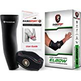DashSport Tennis Elbow Brace – Copper Compression Elbow Sleeve The Original Elbow System Complete Support Pain Relief from Golfer Tennis Elbow
