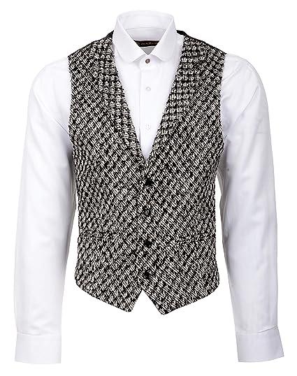 Black Tweed Collared Waistcoat Jack Martin