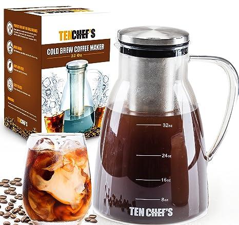 Cold Brew Coffee Maker and Tea infuser - 32OZ - Premium