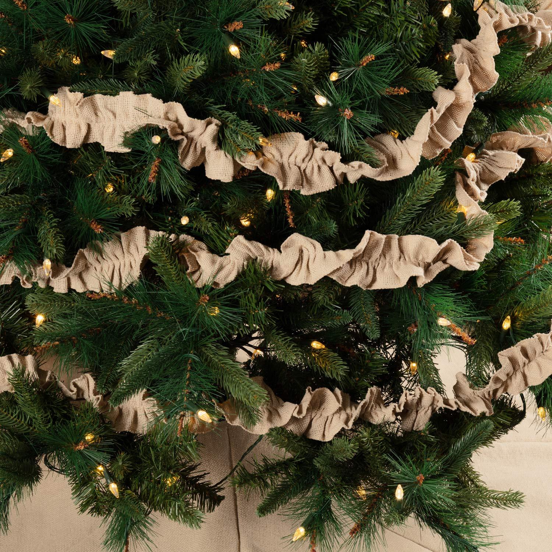 VHC Brands Rustic /& Lodge Holiday Decor Jonathan Plaid Tan Garland Set of 3 9 ft Brown 42275