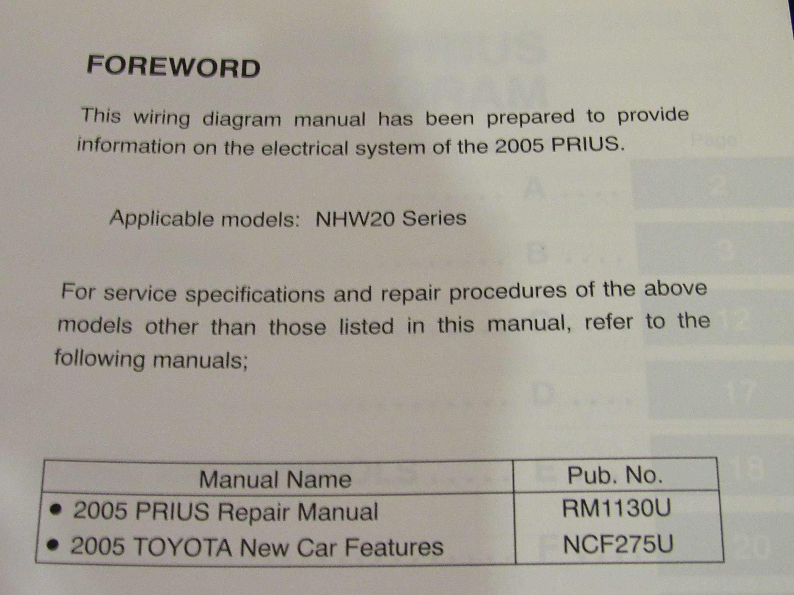 2005 Toyota Prius Electrical Wiring Diagram Manual Oem Amazon Com Books