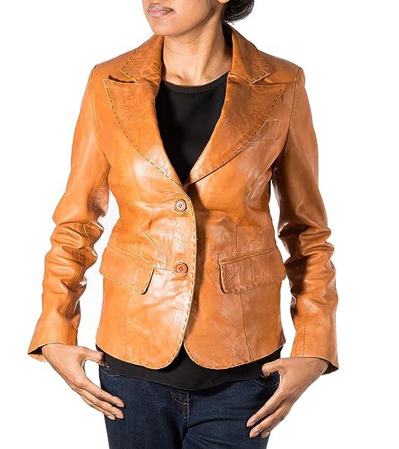 Para mujeres piel auténtica de color marrón Classic funda fina de £109,99 con