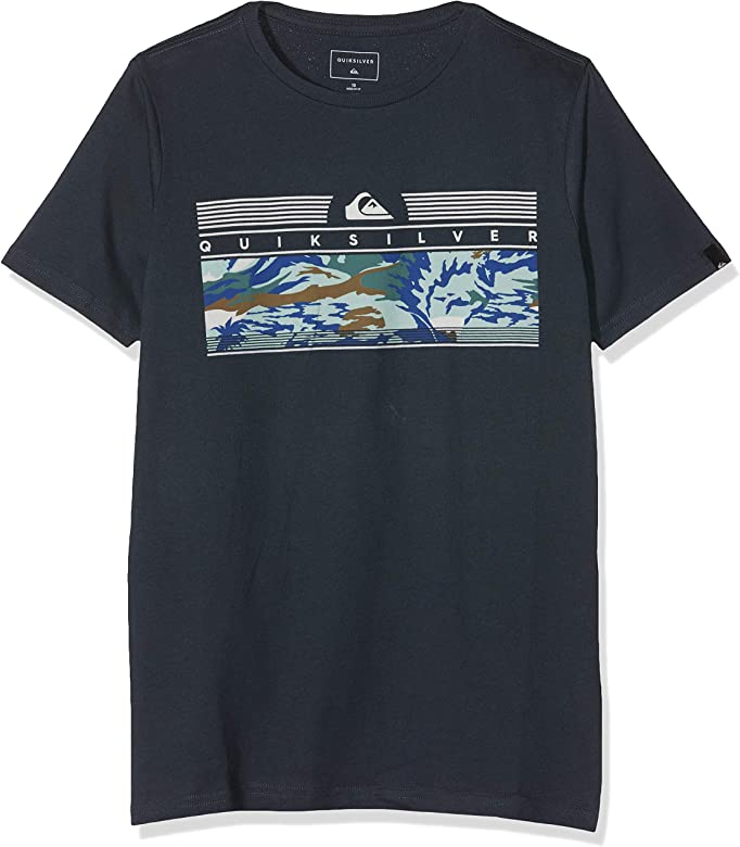 Quiksilver The Jungle Camiseta de Manga Corta, Niños, Azul (Blue ...