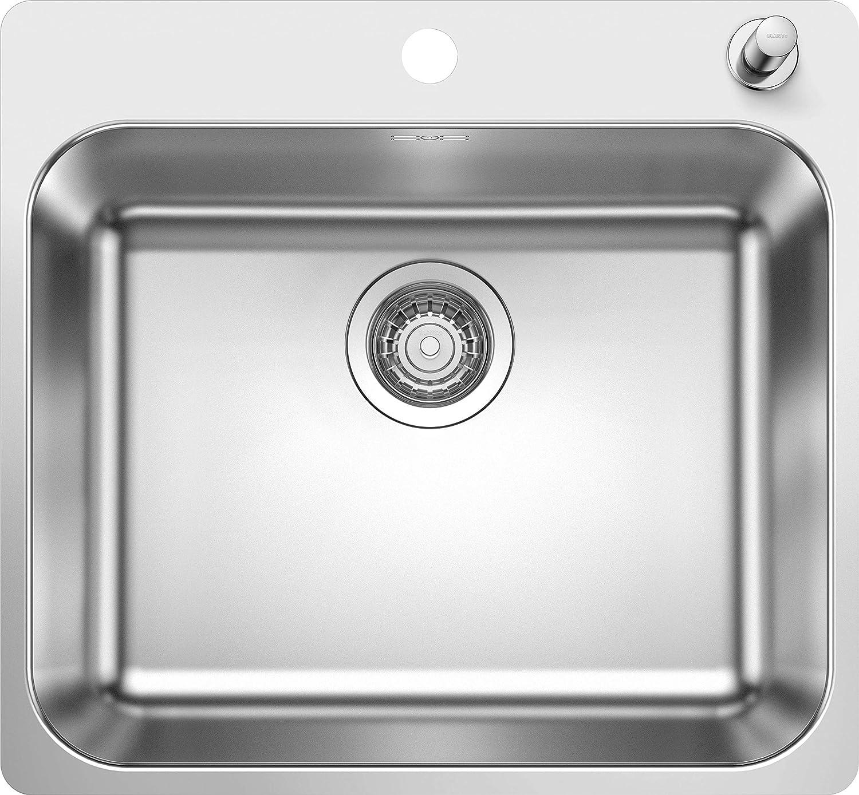 Blanco 523362 Supra 500-IF//A /Évier de cuisine en acier inoxydable avec finition bross/ée Largeur 500 mm