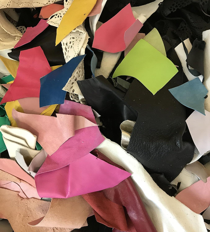 1 Pound Scrap Lot Leather Scraps Lamb & Cow Hide 1 Lb Prism Silks
