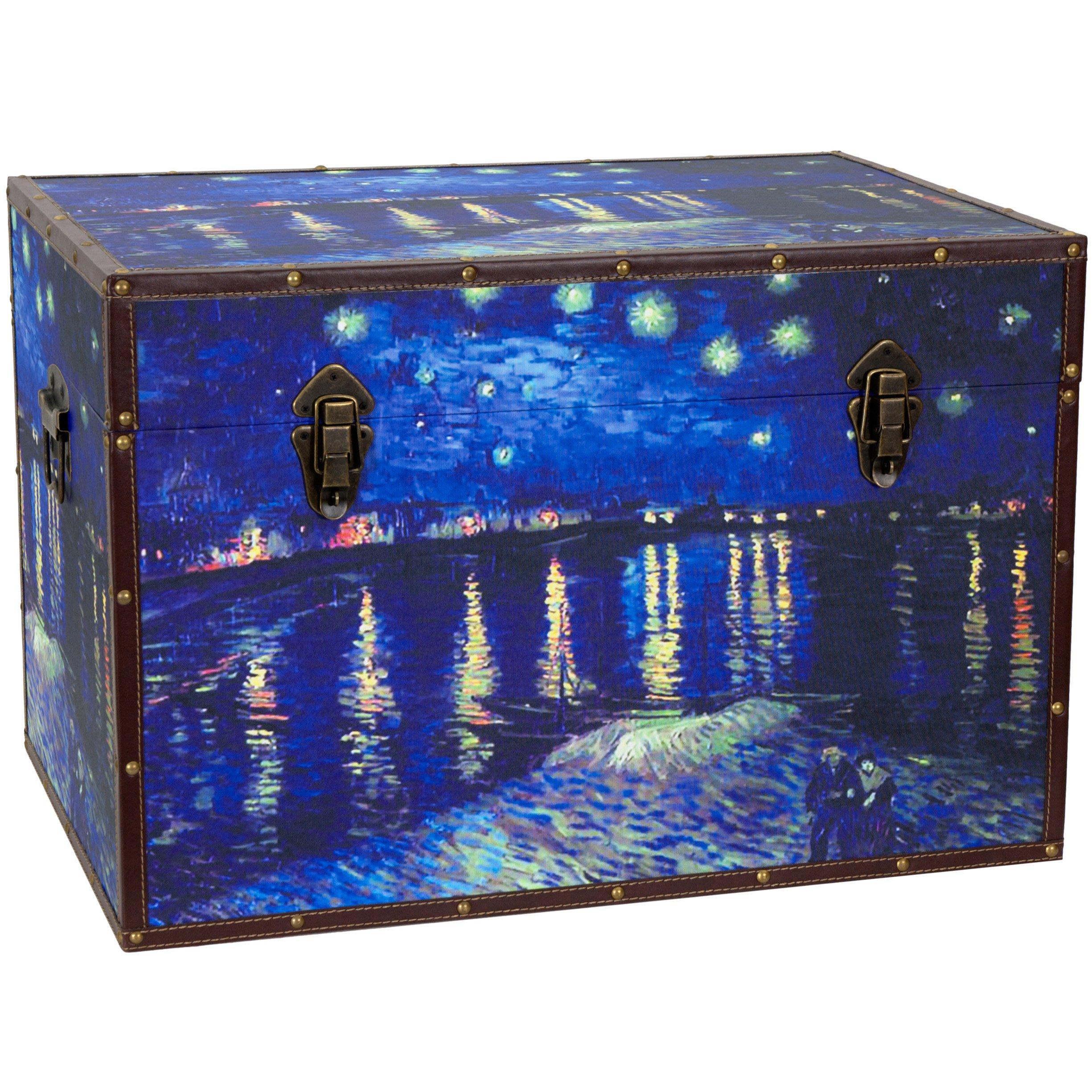 Oriental Furniture Van Gogh's Starry Night Over the Rhone Trunk