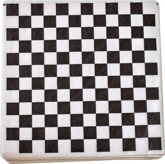 Top 10 12X12 Black Checkerboard Food Resistant Kraft