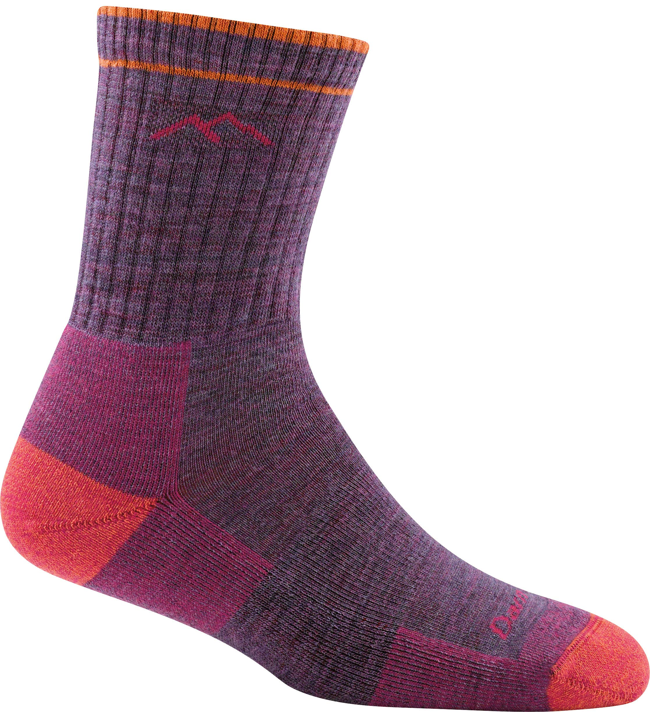 Darn Tough Cushion Boot Socks - Women's Plum Heather Small by Darn Tough