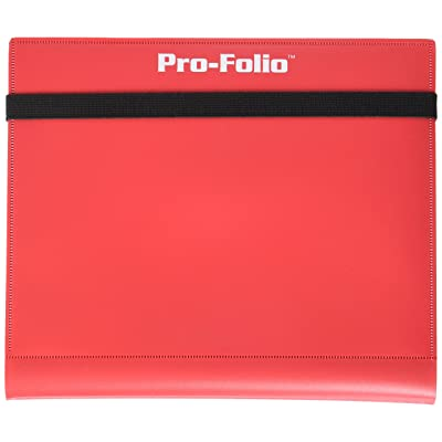 BCW Pro-Folio 4-Pocket Album Red Card Game: Toys & Games