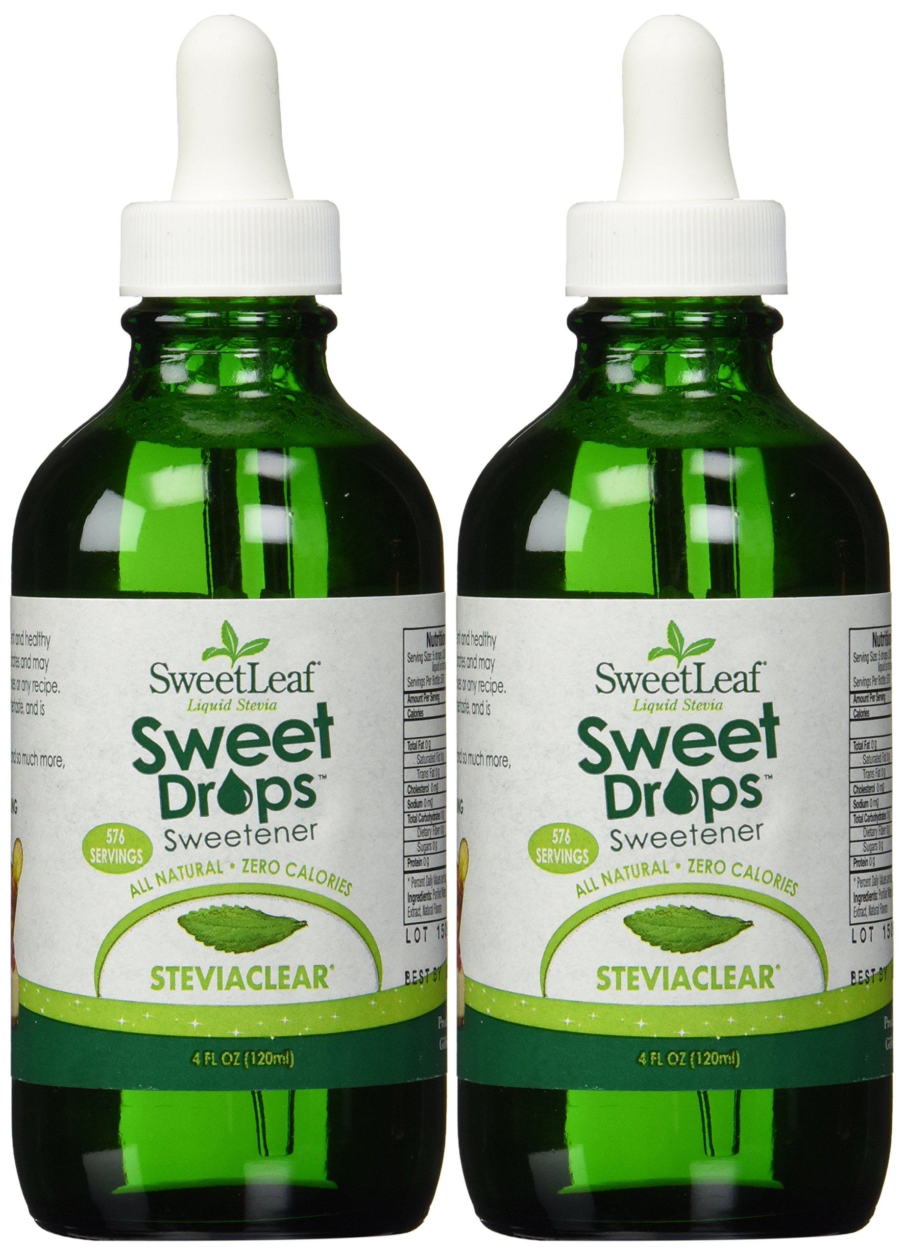 Sweetleaf Stevia Stevia Clear Liquid 4-ounce (2-Pack)