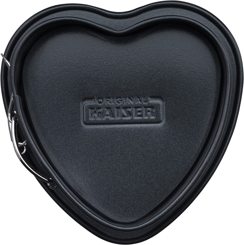 Negro Kaiser Molde Desmontable en Forma de coraz/ón Antiadherente Revestimiento 22/cm
