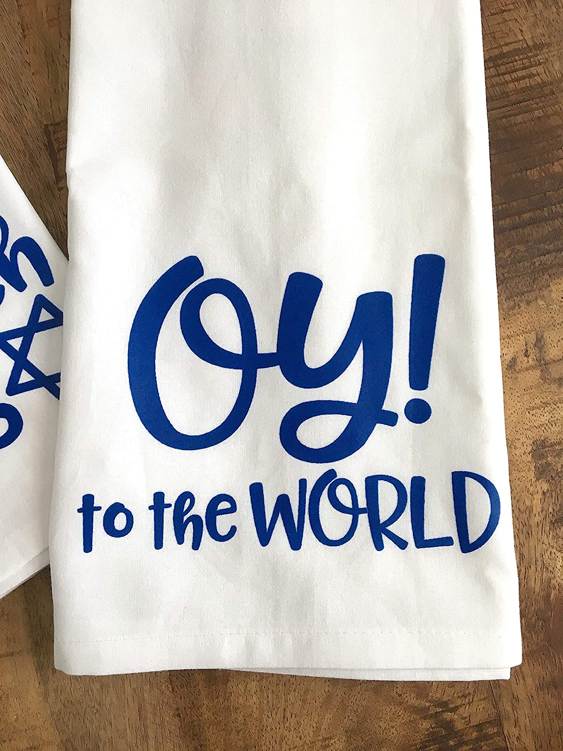 Funny Hanukkah Towel Oy to the World Hostess Gift for the Holidays