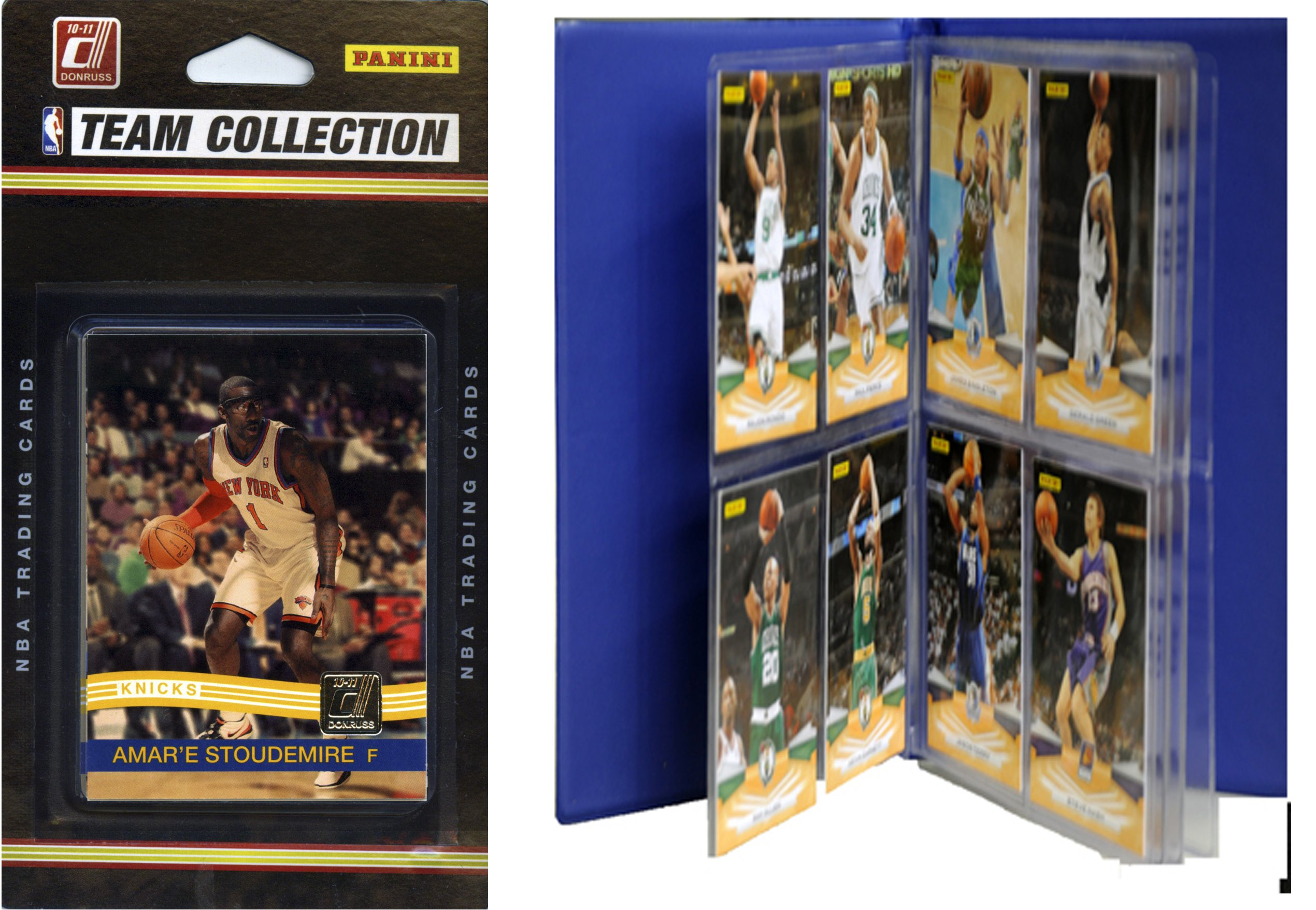 NBA New York Knicks Licensed 2010-11 Donruss Team Set Plus Storage Album